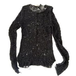 $ 2680 Thimister Knit Curved  Sleeve Sweater  L